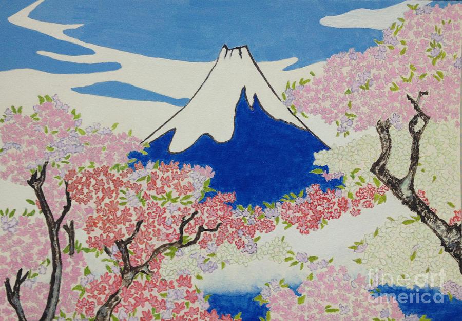 Ukiyo-e Painting - Spirit Of Ukiyo-e Illuminated By Stunning Nature by Sawako Utsumi