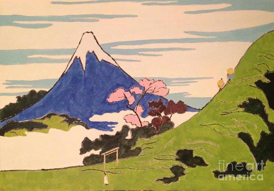 Ukiyo-e Painting - Spirit of Ukiyo-e in the Light of Shinto by Sawako Utsumi