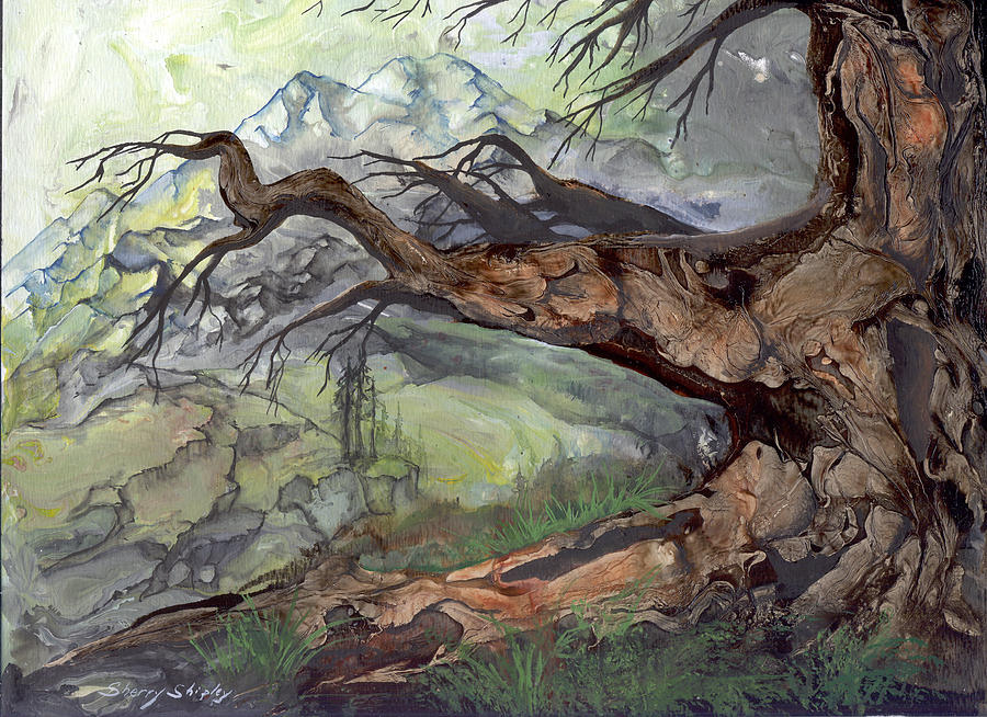 Bark Painting - Spirit Tree by Sherry Shipley