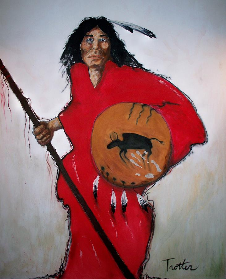 Native Painting - Spirit Warrior by Patrick Trotter