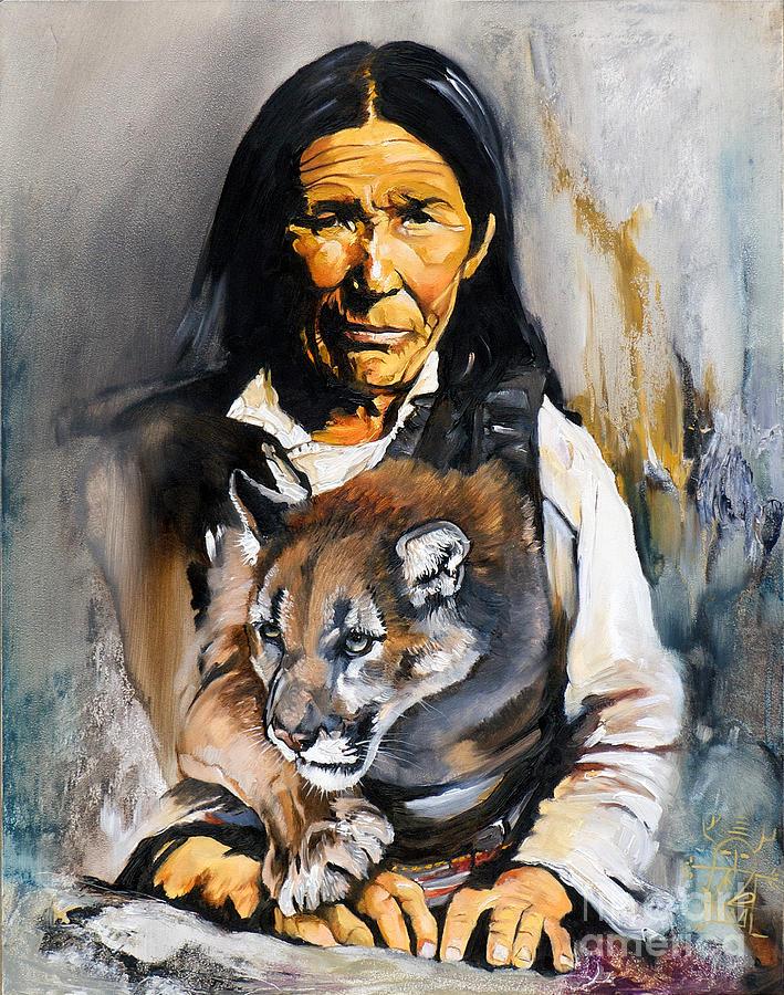Spiritual Painting - Spirit Within by J W Baker