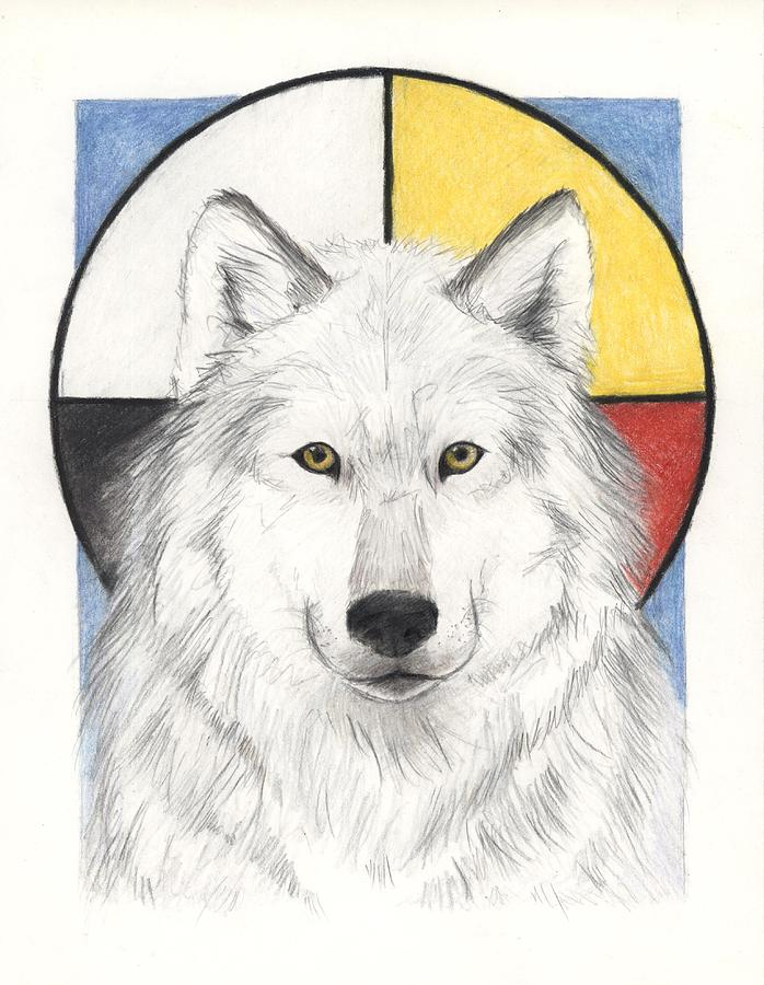 Wolf Painting - Spirit Wolf by Brandy Woods