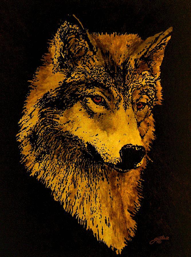 Wolf Painting - Spirit Wolf by John Guthrie
