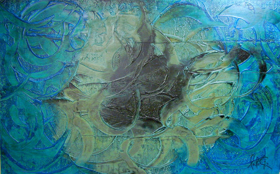 Abstrac Painting - Spiritual Abstrac 13 by Lalo Gutierrez