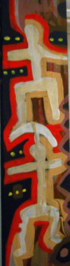 Tri Painting - Spiritual  Totem -two Culturals by Robert Daniels