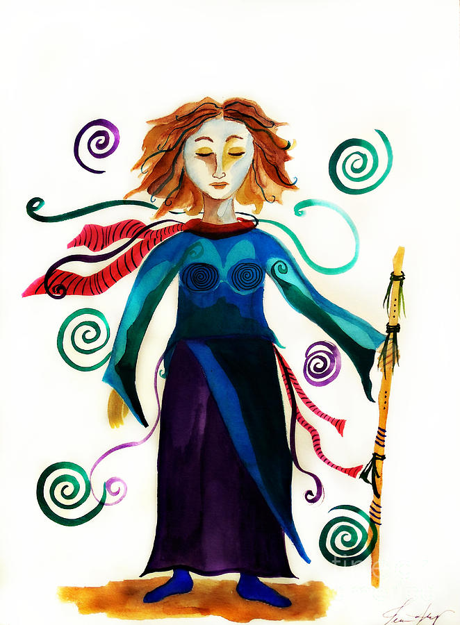 Spiritual Warrior Painting - Spiritual Warrior by Jean Fry