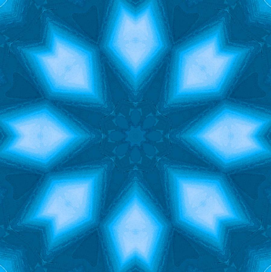 Blue Digital Art - Spiro #2 by Writermore Arts