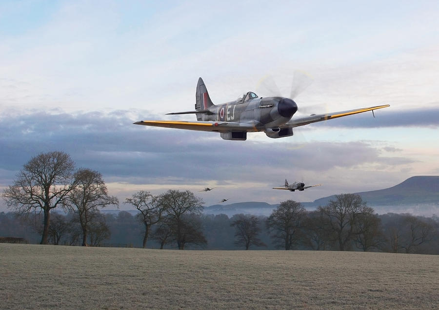 Aircraft Photograph - Spitfire - Interdictor Mission by Pat Speirs