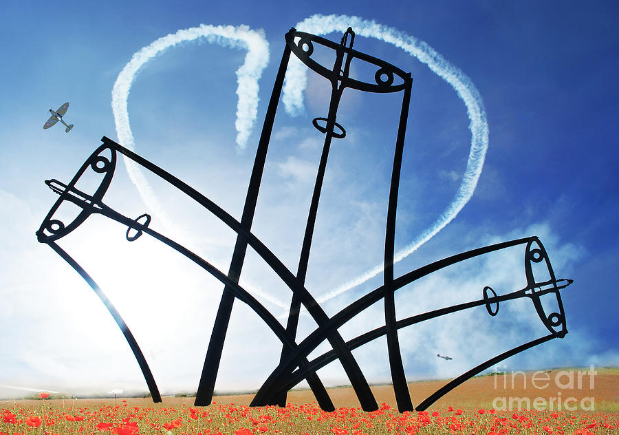 Spitfire Photograph - Spitfire Sentinel In The Field Of Poppies  by Eugene James