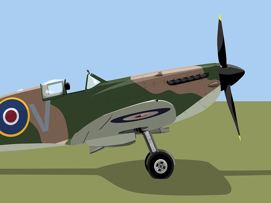 Spitfire Digital Art - Spitfire Ww2 Fighter by Michael Tompsett