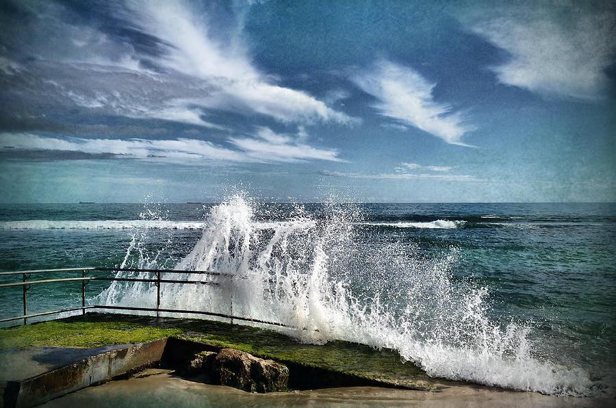 Waves Photograph - Splash Happy by Kym Clarke