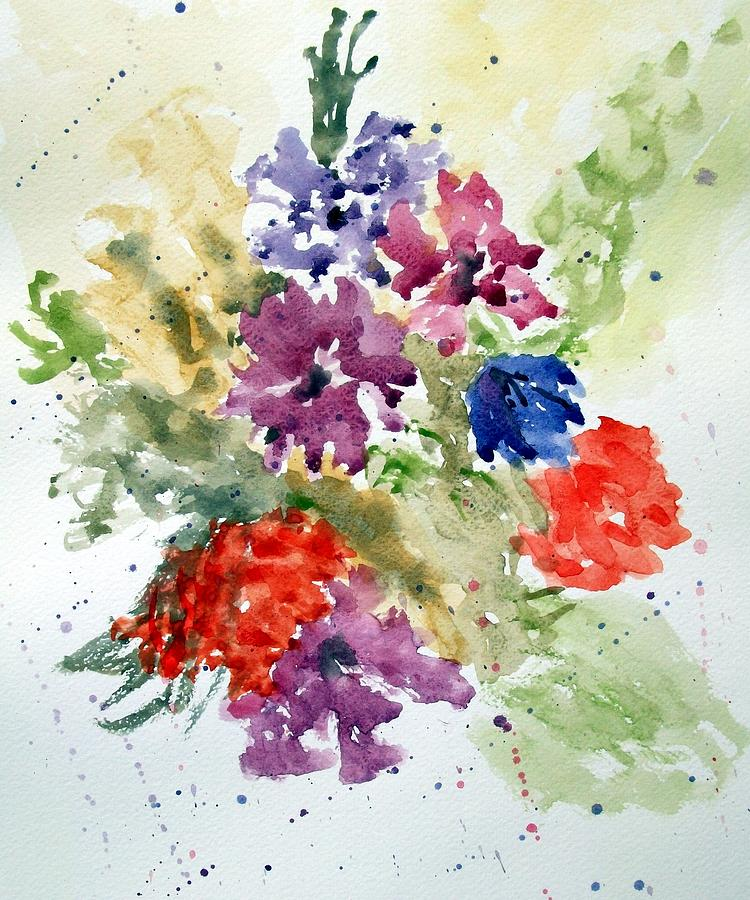 Floral Painting - Splash by Jean Billsdon