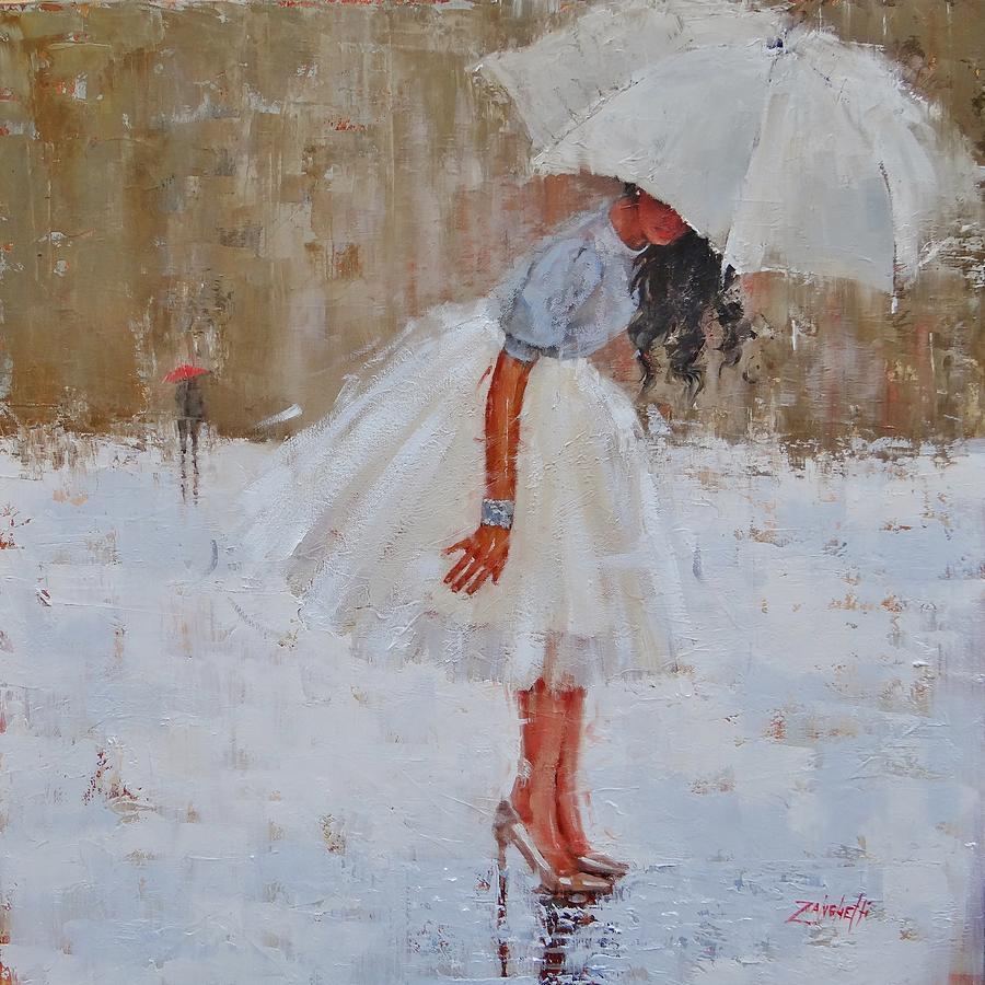 Rain Painting - Splash by Laura Lee Zanghetti