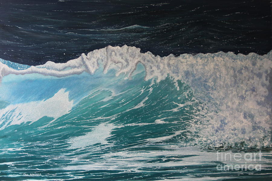 Sea Painting - Splash by Paul Newcastle