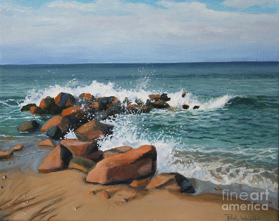 Seascape Painting - Splash by Paul Walsh