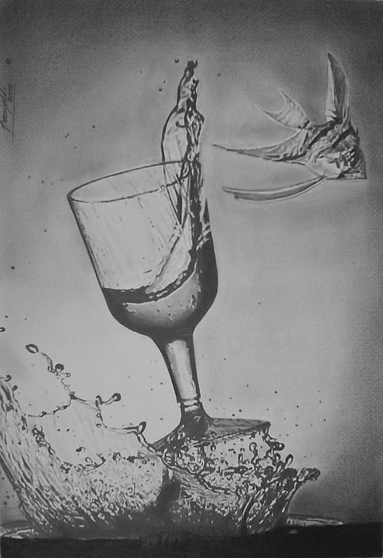 Splash Drawing by Rogerio Ceconello