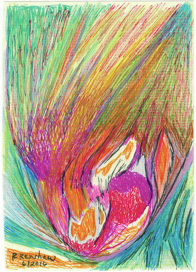 Markers Drawing - Splash by Ruth Renshaw
