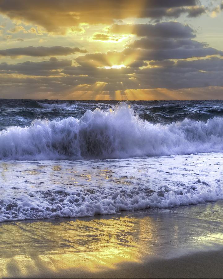 Clouds Photograph - Splash Sunrise IIi by Debra and Dave Vanderlaan