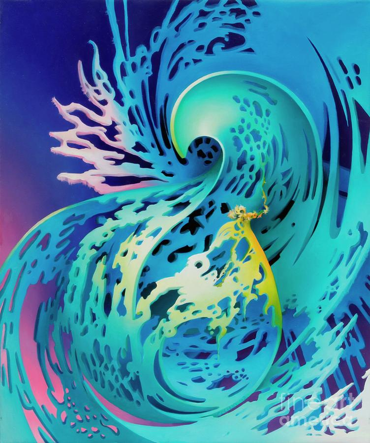 Water Painting - Splash by Symona Colina