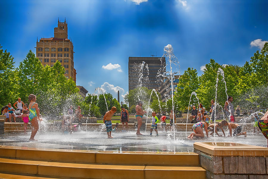 Asheville Digital Art - Splashville Of Asheville by John Haldane