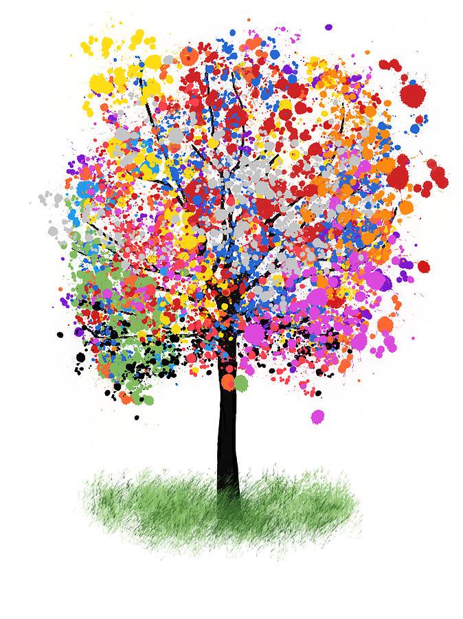 Splatter Tree Digital Art