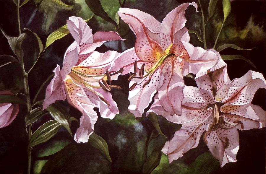 Watercolor Painting - Splendor In Pink by Alfred Ng