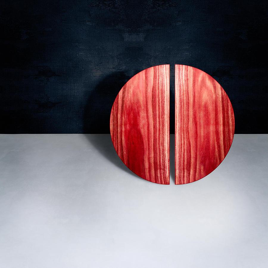 Block Photograph - Split Circle Red by YoPedro