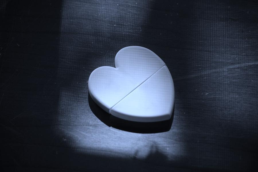 Heart Photograph - Split In Two by Danielle Marco