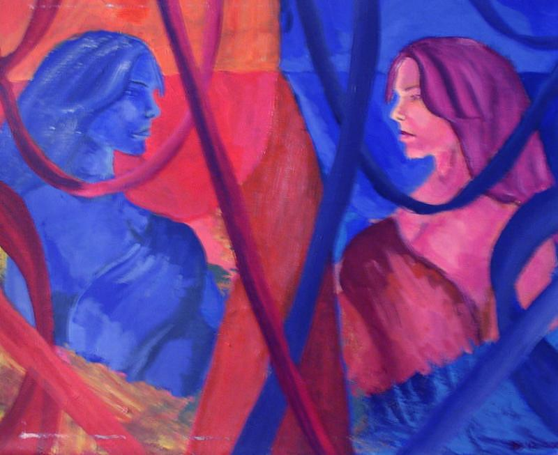 Split Personality Painting - Split Personality by Vykky Gamble