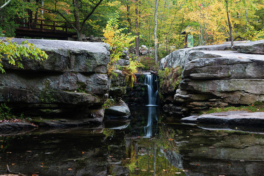 Waterfall Photograph - Split Rock In October #1 by Jeff Severson