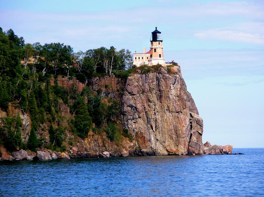 Lighthouse Photograph - Split Rock Lighthouse by Bridget Johnson