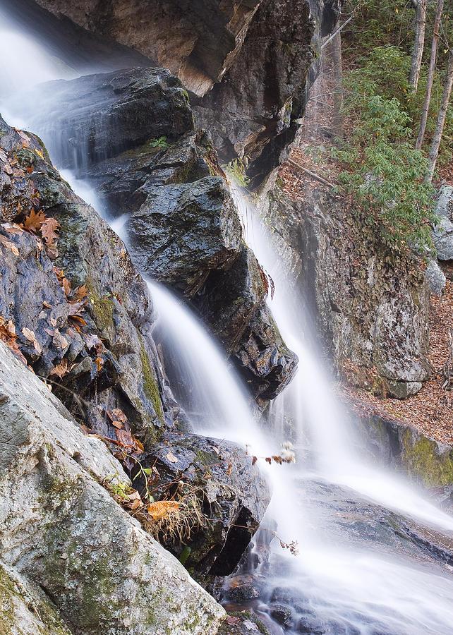 Falls Photograph - Split Stream by Alan Raasch