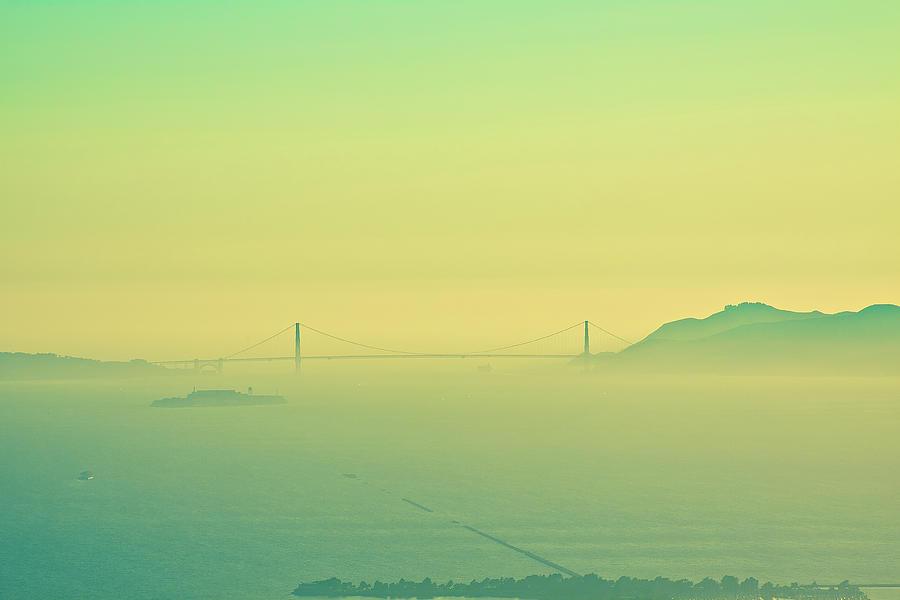 Golden Gate Bridge Photograph - Split Tone Gate Bridge by Digiblocks Photography