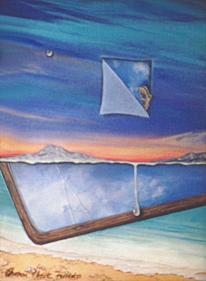 Seascape Painting - Splitting Image by Sharon Ebert