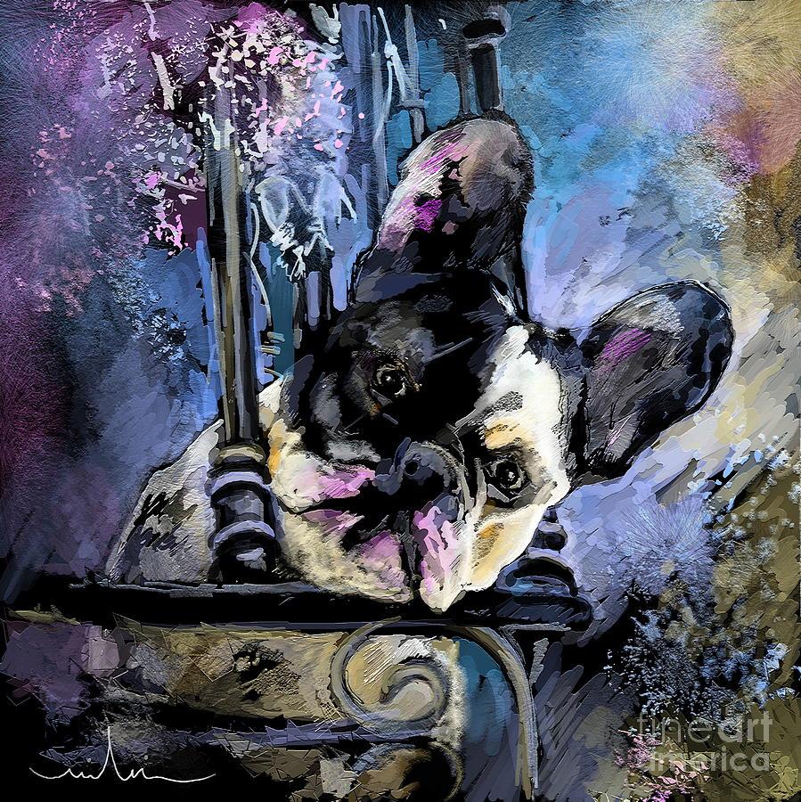 Dog Portrait Painting - Spok by Miki De Goodaboom
