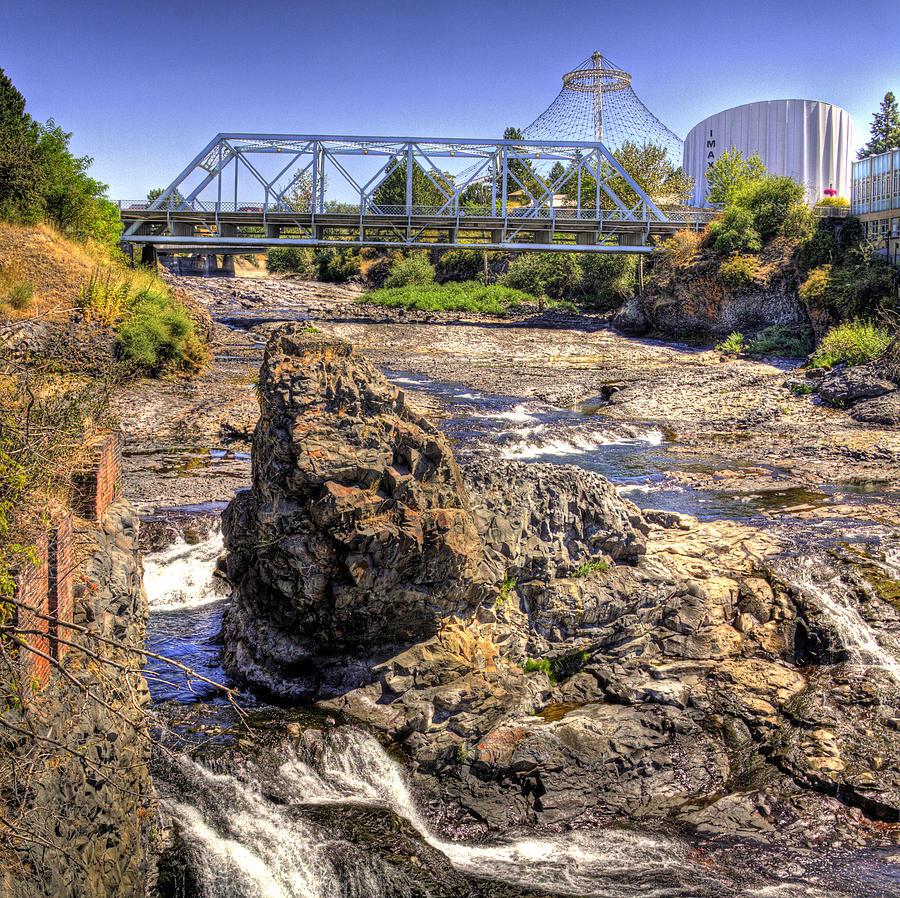 Landscape Photograph - Spokane Falls by Lee Santa
