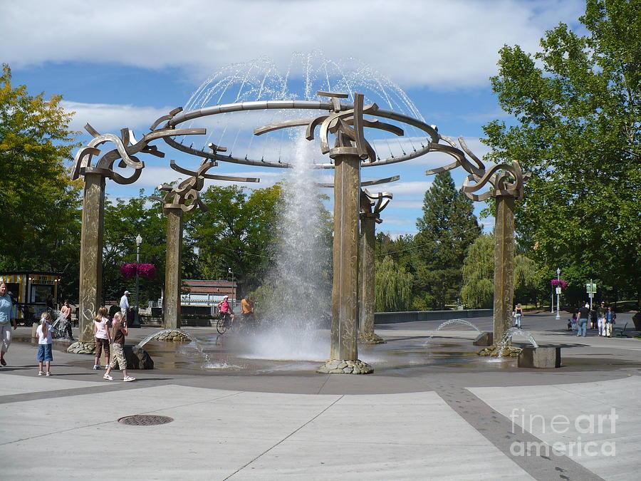 Spokane Fountain Photograph