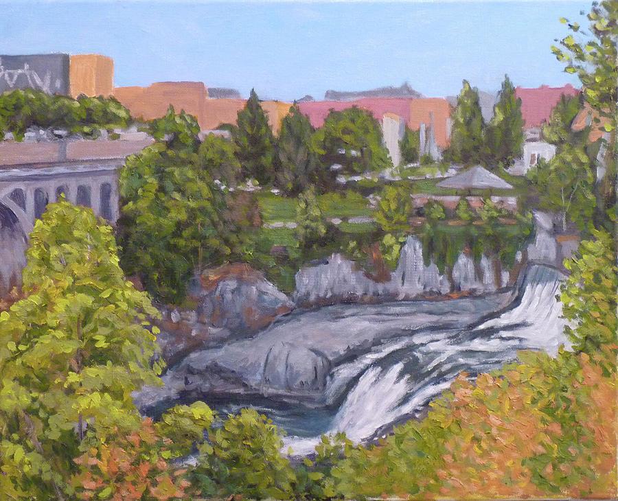 Spokane River Downtown by Stan Chraminski