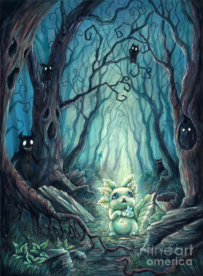 Spooky Forest Pastel - Spooky Forest by Anne Koivumaki - Fine Art Anne