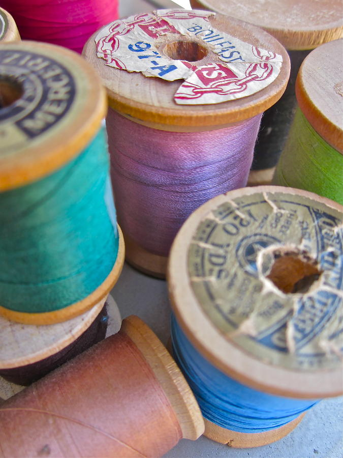Photograph Of Spools Of Thread Photograph - Spools Of Thread by Gwyn Newcombe