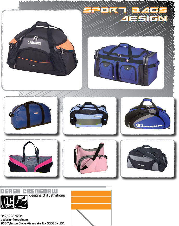 Sport Bag Design Digital Art by Derek Crenshaw