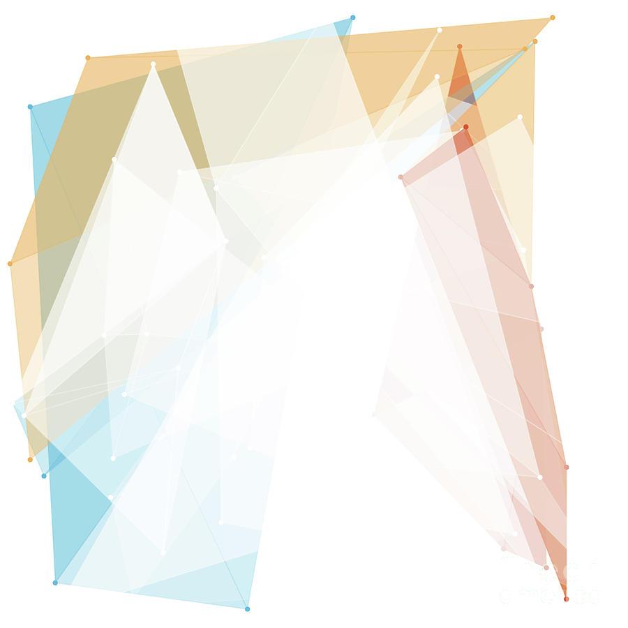 Abstract Digital Art - Sport Polygon Pattern by Frank Ramspott
