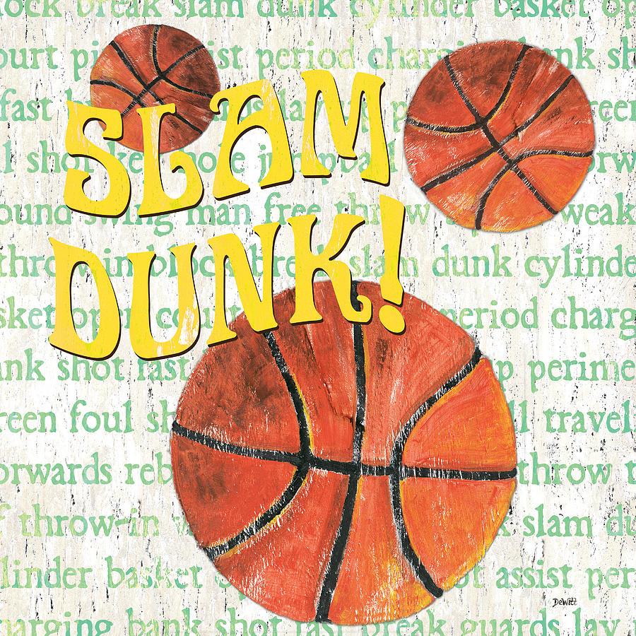 Basketball Painting - Sports Fan Basketball by Debbie DeWitt