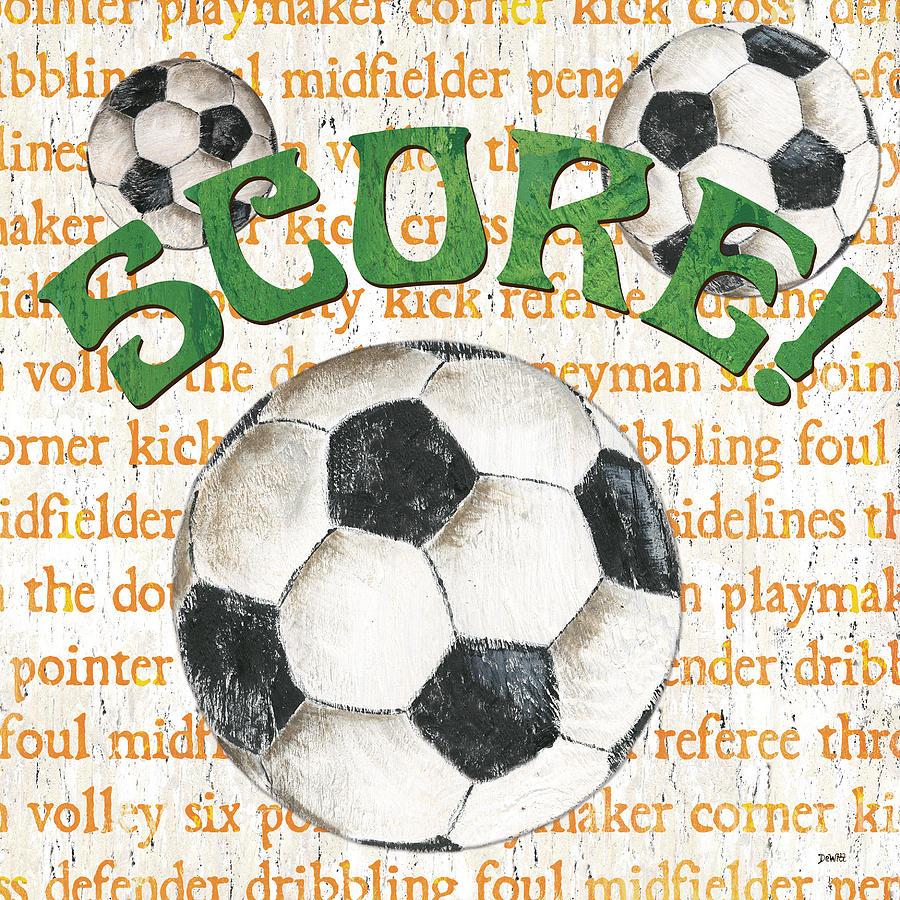 Soccer Painting - Sports Fan Soccer by Debbie DeWitt