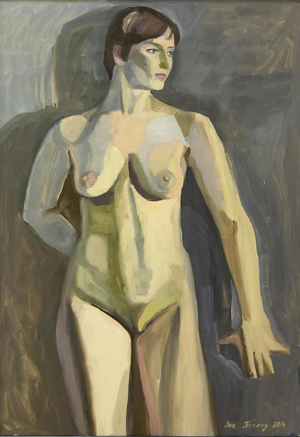 Naked Painting - Sportswoman by Yana Poklad