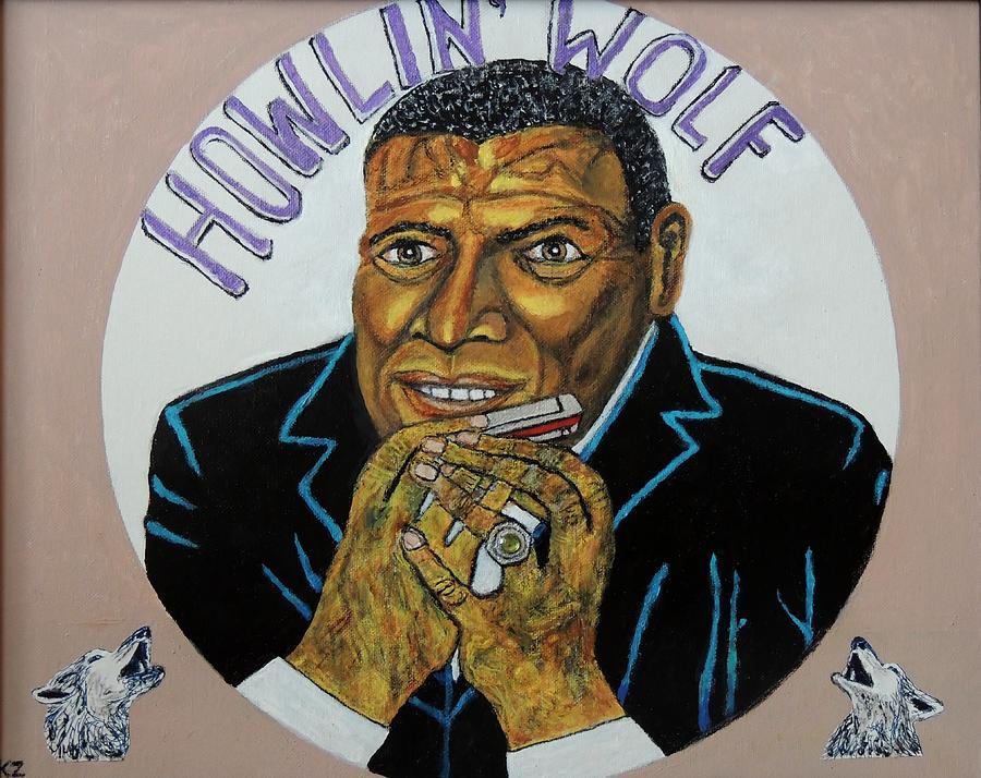 Chester Burnette Painting - Spotlight On The Wolfman. by Ken Zabel