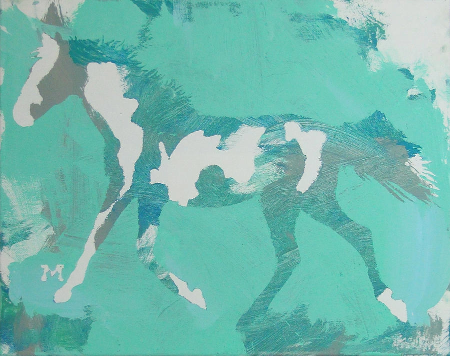 Horse Painting - Spots by Candace Shrope