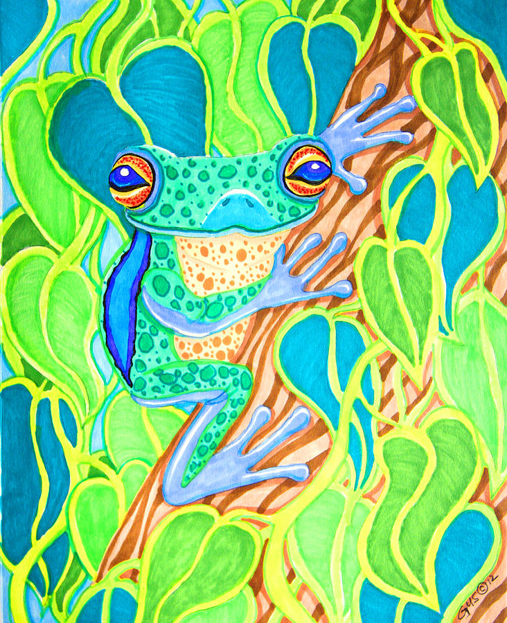 Spotted Tree Frog Drawing
