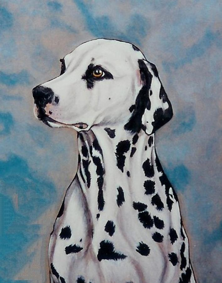 Dogs Painting - Spotty by Lilly King