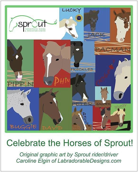 Spout horses by Caroline Elgin